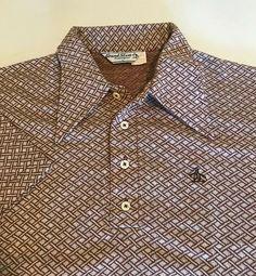 4de49dcb7 (eBay Ad) VTG 70 s GRAND SLAM Polo shirt Men s L Munsingwear Penguin Atomic  Geometric
