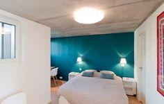 Feld Architecture Designs a Contemporary Home in Saint-Cast-le-Guildo, France Peinture Little Greene, Villa, Blue Rooms, Extension, Perfect Place, Paint Colors, Beautiful Homes, Architecture Design, Master Bedroom