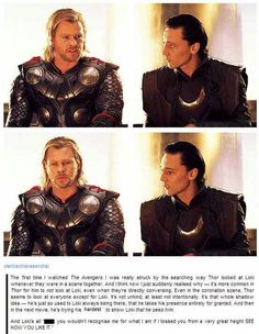 """All his life Loki has loved and admired Thor, but he has also feared him too. While I don't believe Thor actually physically bullied Loki, he verbally was aggressive (remember Thor had just flipped over a heavy table full of food) and growled at Loki that it wasn't """"...wise to be in my presence now."""" Now that Jane Foster forced Thor to grow up and be the hero he was meant to be Loki still remembers and still fears."""