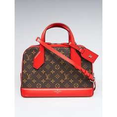Pre-owned Louis Vuitton Coquelicot Monogram Canvas Dora PM Bag (£1,775) ❤ liked on Polyvore featuring bags and luggage