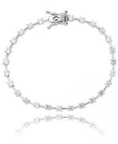 comprar pulseira riviera prata com zirconias cristais semi joias de qualidade online