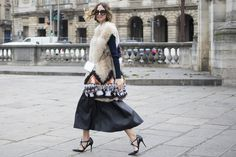 Candela Novembre wearing the Jimmy Choo LUSION pump at PFW