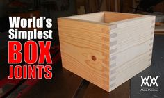 World's simplest box joint jig