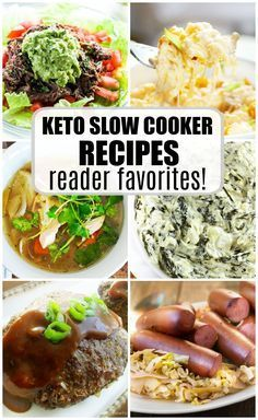KETO Slow Cooker Recipes you have to try. These recipes are low carb and high fat, perfect for the keto diet. Bacon, cheese and