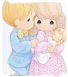 Precious Moments Baby Shower Decorations   Imágenes Originales de Ruth Morehead Diseño Silvita Blanco