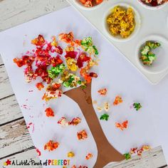 Colorful Fall Tree Popcorn Craft for Kids: An easy craft to make when the leaves start falling outside (Autumn, Kids craft) Fall Crafts For Kids, Crafts For Kids To Make, Kids Crafts, Preschool Arts And Crafts, Fall Preschool, Popcorn Crafts, Guest Book Tree, Guest Books, Art N Craft