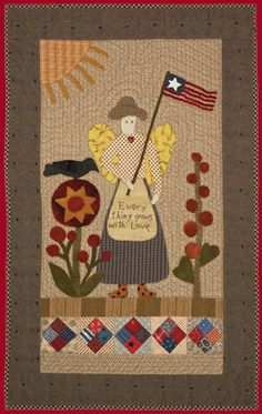 Garden Angel applique quilt by Norma Whaley, Timeless Traditions Quilts