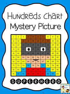 FREE - Hundreds Chart Mystery Picture - Superhero! Fun way to practice number re...