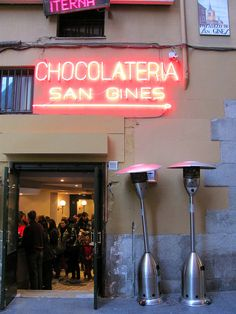 Chocolateria San Gines, Madrid Spain   Best churros in the city!