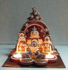 Betlém větší zepředu - Nativity Scene