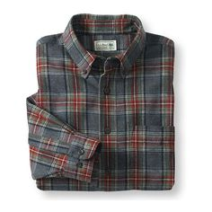 Scotch Plaid Flannel Shirt, Traditional Fit (52 CAD) ❤ liked on Polyvore featuring tops, flannels, shirts, tartan top, tartan shirt, flannel shirts, tartan flannel shirt and plaid top
