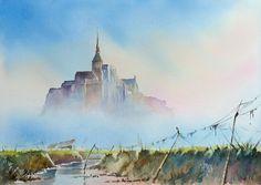 Joël Simon - Brume sur le Mont Saint Michel