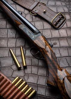 PH model Anson & Deeley .470 Nitro Express double rifle.