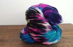 Over the Moon~ Hand Painted-Hand Dyed Superwash Merino wool & Nylon Sock Yarn- 420yds - sw merino 80/20- Witch Candy by TheHummingbirdMoon on Etsy