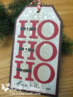 Hello again . Time for another festive tag for this year's 12 Tags of Christmas with Loll & Friends . Diy Christmas Tags, Christmas Paper Crafts, Holiday Gift Tags, From Santa Gift Tags, Holiday Cards, Xmas Cards, Gift Cards, Card Tags, Card Kit