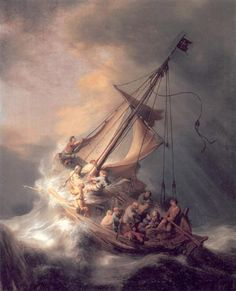 """Christ in the Storm"" (1633), do pintor holandês Rembrandt."