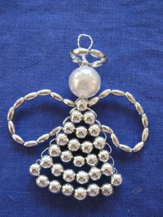 Beaded Angel Ornament - Making Modern Jewelry Fun! - Modern Minerals - Beaded Angel Ornament – Making Modern Jewelry Fun! Wire Ornaments, Christmas Ornaments To Make, How To Make Ornaments, Christmas Angels, Christmas Things, Beaded Crafts, Jewelry Crafts, Resin Crafts, Beaded Angels
