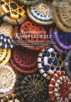 N e e d l e p r i n t: Knopferlwelt - Button World
