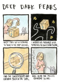 Why am I not worried about the return address? Maybe hair and fingerprints feel more like evidence. A fear submitted by Coura to Deep Dark Fears - thanks! The new Deep Dark Fears book is available now, with fifty unpublished comics and. Scary Creepy Stories, Spooky Scary, Scary Things, Creepy Stuff, Funny Things, Fear Book, Deep Dark Fears, Image Triste, Creepy History