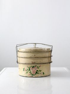Vintage Cake Carrier / 1930s Dessert Carrier by 86home on Etsy, $68.00