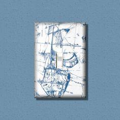 LightSwitch Cover Nautical Ship Sail Boat Beach Kids  Light Switch Decorative Switchplates  Light Switch Plate Light Switchplate Cover on Etsy, $7.50