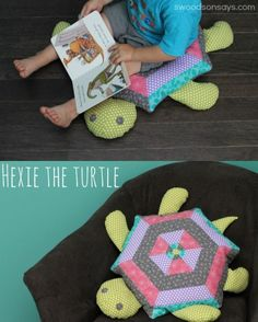 Stephanie joins us today with one of my favorite projects for kids from Present Perfect with some great added touches! – Betz How much fun is this bright, colorful turtle! I am an inexperienced quilter but I love handmade toys and softies so I jumped at the chance to sew up a big floor ...