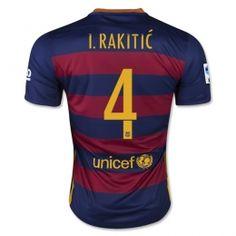 15-16 Football Shirt Barcelona Cheap Home I. Rakitic  4 Replica Jersey  15-16 FCB Cheap Home I. Rakitic  4 Soccer jerseys 107065395