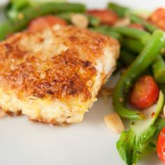 Parmesan Baked Cod with Cod Fillets Flour Cornmeal Onion Salt Black Pepper Butter Grated Parmesan Cheese Cod Fillet Recipes, Salmon Recipes, Seafood Recipes, Cooking Recipes, Cooking Tips, Healthy Recipes, Baked Cod Fish Recipes, Easy Cod Recipes, Grilled Cod Recipes