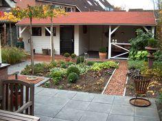 Exact op maat gemaakt tuinhuis met heerlijke veranda, door Jan de Boer Tuinhuizen.