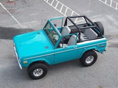 About This Vehicle Mileage: 124,100 Engine: V8 Body Style: Convertible Transmission: Manual Exterior Color: Turquoise Interior Color: Gray VIN:  U15GLG53921 Price: SOLD ABSOLUTELY BEAUTIFUL, FULLY RESTORED, 1970 FORD BRONCO CLASSIC….INVESTMENT QUALITY, READY TO SHOW AND GO!!! THIS SWEET TURQUOISE '70 BRONCO IS ONE YOU DO NOT WANT TO MISS OUT ON… VERY HIGH QUALITY BUILD ON AN ORIGINAL, …
