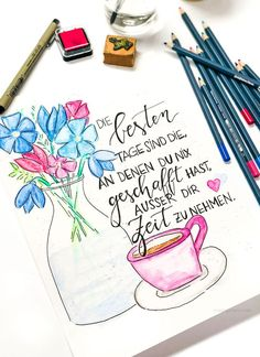 uploaded this image to 'Mobile See the album on Photobucket. Brush Lettering, Hand Lettering, Book Journal, Bullet Journal, Happy Paintings, Blog, In Writing, Filofax, Cute Quotes