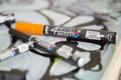 """4Artist Marker pen. oil-based """"paint marker"""" by Pébéo in hobbywood stores #markers #oilmarkers #pebeo #pebeoart #hobbywoodstores"""