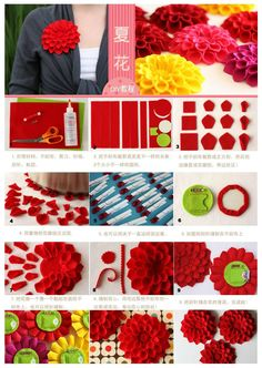 Great how-to to felt a flower (or paper one) for Mom's Day, Birthday, or any other special ocassion!