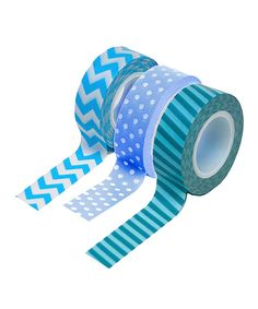 This Blue Washi Tape Set by Koyal Wholesale is perfect! #zulilyfinds