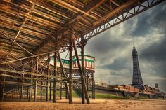 under the north pier / 3x2 + Blackpool Tower + HDR + piers [North pier] + fylde coast [scenic]