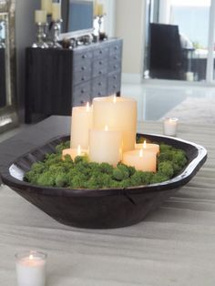 christmas dough bowl centerpiece skandinavische. Black Bedroom Furniture Sets. Home Design Ideas