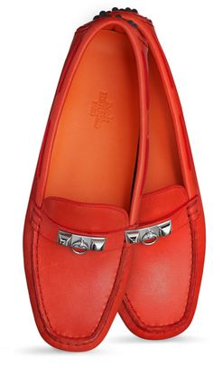 ~Hermes Red Irving Car Shoes | The House of Beccaria#