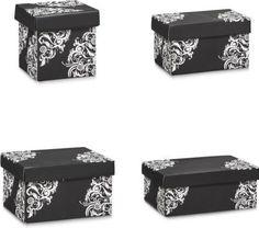 Zeller Aufbewahrungsbox, Pappe, schwarz floral, vers. Größen Größe: 15,5 x 23,5 x 13,5 cm Jetzt bestellen unter: https://moebel.ladendirekt.de/dekoration/aufbewahrung/kaestchen/?uid=0711d170-cd86-5e6c-b2b9-0e916cdec567&utm_source=pinterest&utm_medium=pin&utm_campaign=boards #heim #aufbewahrung #kaestchen #dekoration