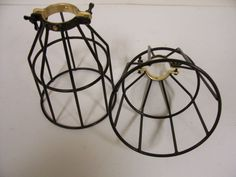 2 Trouble Drop Light Wire Bulb Cage Vintage Style Industrial Steampunk Lamp | eBay