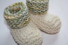 Rolled Cuff Baby Booties pattern by Nickie Alexander
