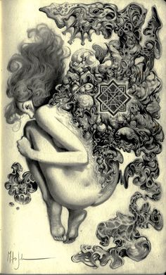Miles Johnston works primarily in pencil drawing. His surreal art explores psychological transformation in portraits and figurative images. Miles Johnston, Graphite Art, Surreal Artwork, Concept Art World, Gravure, Dark Art, Art Inspo, Fantasy Art, Cool Art