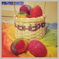 Make colorful felt eggs with Felted Easter Eggs Kit from Bella Luna Toys. http://www.bellalunatoys.com/felted-spring-easter-eggs-kit.html