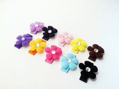 Petite flower collectionRainbow by DecorativeMatters on Etsy, $8.00