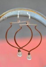 Copper Labradorite Earrings