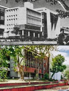 "Dito, Noon: UP Diliman Palma Hall, Quezon City, 1960 x 2019 #kasaysayan — The Palma Hall or ""AS"" (as it is called by the UP Diliman community) was named after Rafael Palma, the fourth university President and the first Filipino to hold that post. #kasaysayan Quezon City, Present Day, Filipino, Philippines, University, Community, History, Historia, Community College"