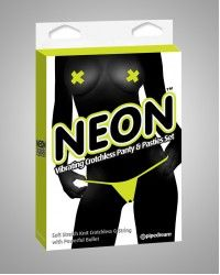 Neon Vibrating Panty and Pasty set - Yellow color