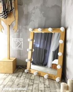 Bulb Mirror, Mirrors, Design My Room, Lightbox, Bedroom, Table, Furniture, Home Decor, Outfit Store