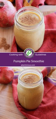Like a taste of fall, this pumpkin pie smoothie is creamy yet full of fiber and good for you beta carotene. Pumpkin Pie Spice, Pumpkin Puree, Smoothie Recipes, Smoothies, Pumpkin Pie Smoothie, Beta Carotene, Baby Spinach, Pecans, Nutritious Meals