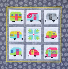 """Happy Camper"" quilt pattern by MH Designs for Quilt Minnesota"