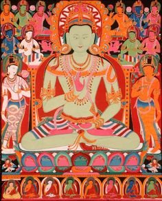 The green buddha Amoghasiddhi. His transcendental insight is perfected action - the antidote to the poisons of envy and jealousy. Buddhist Words, Buddhist Art, Thangka Painting, Buddha Painting, Tibetan Mandala, Buddhist Shrine, Vajrayana Buddhism, Buddha Life, Buddhist Practices